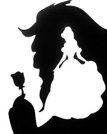 Beauty & The Beast stencil.