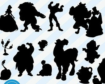 Beauty And The Beast Clipart Silhouette.