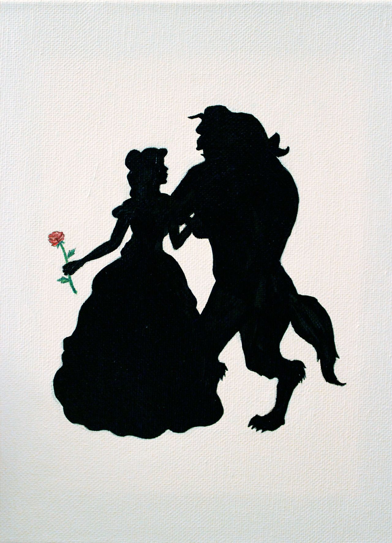 Beauty and the Beast Silhouettes.