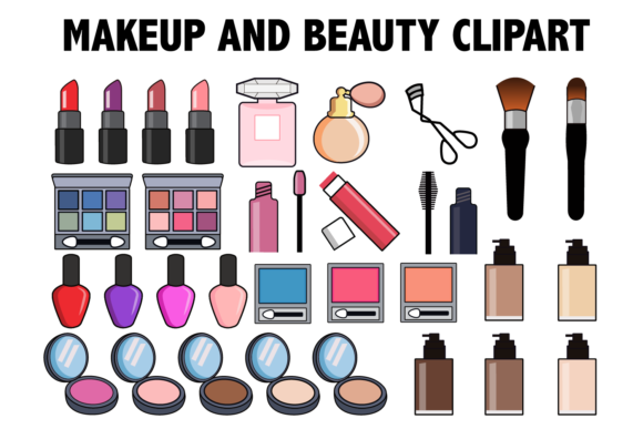 Makeup and Beauty Clipart.