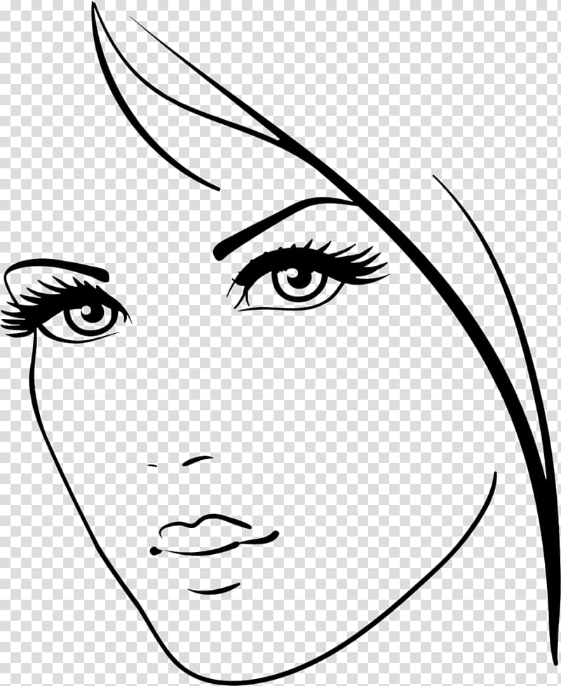 Drawing , beauty face transparent background PNG clipart.