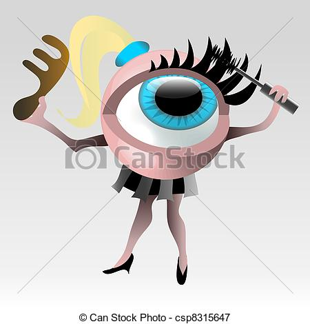 Stock Illustrations of Beauty things for eyes.