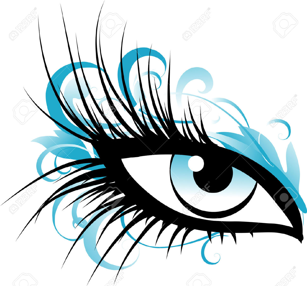 Female Eye Royalty Free Cliparts, Vectors, And Stock Illustration.