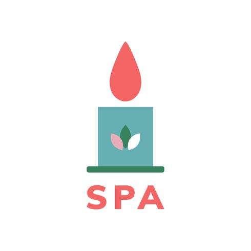 Spa and beauty icon vector.