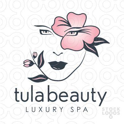Logo for sale: Beautiful women's face hidden within growing.