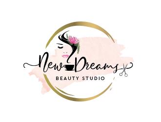 New Dreams Beauty Studio logo design.