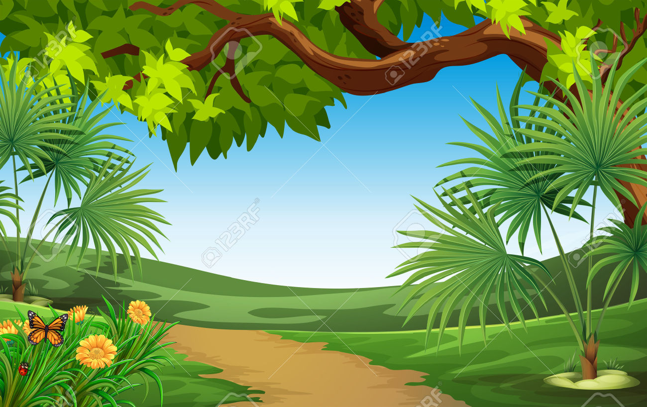 Beautiful nature scenery clipart.