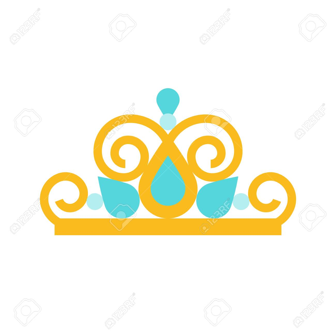 beauty pageant crown, jewelry related icon, flat design..