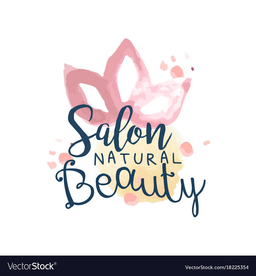 Beauty salon logo label for hair or beauty studio.