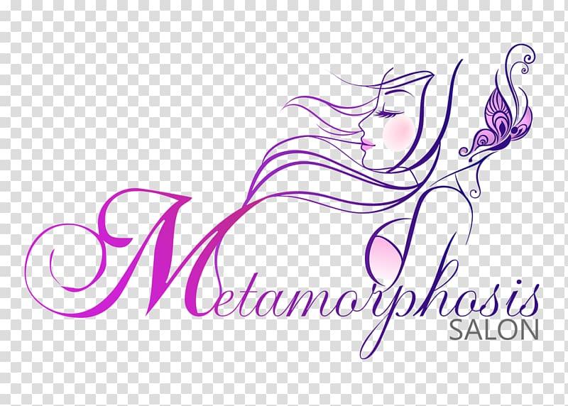 Metamorphosis salon logo, Beauty Parlour Cosmetologist Hair Care.