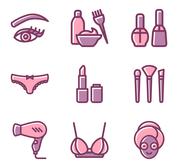 101 beauty salon icon packs.