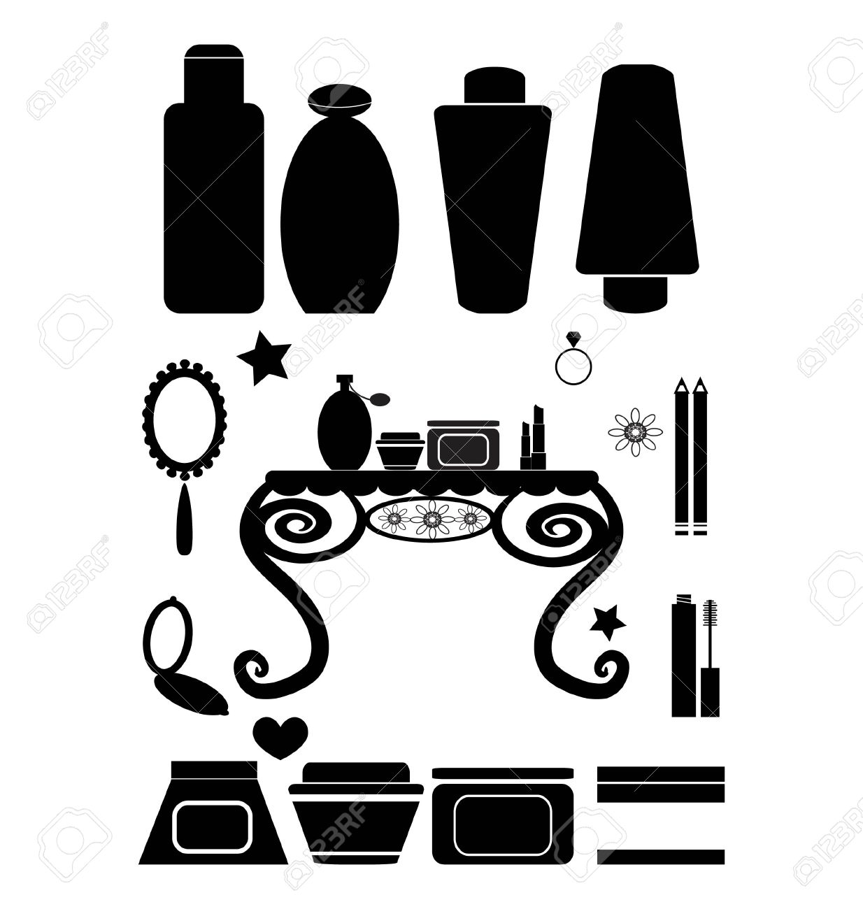 Cosmetics And Beauty Products Royalty Free Cliparts, Vectors, And.