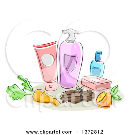 Clipart of a Sales Woman Direct Selling Her Beauty Product to a.
