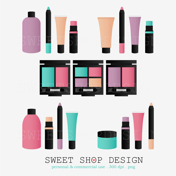 Beauty Product Clipart.