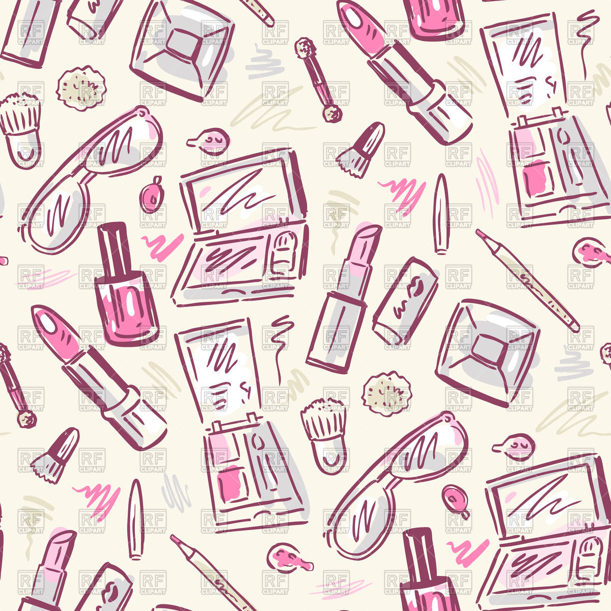 Beauty Products Clip Art.