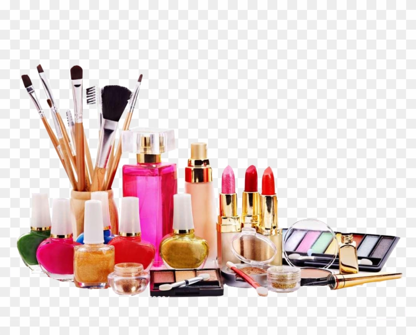 Beauty Ingredients Of Makeup Parlour Cosmetics Clipart.