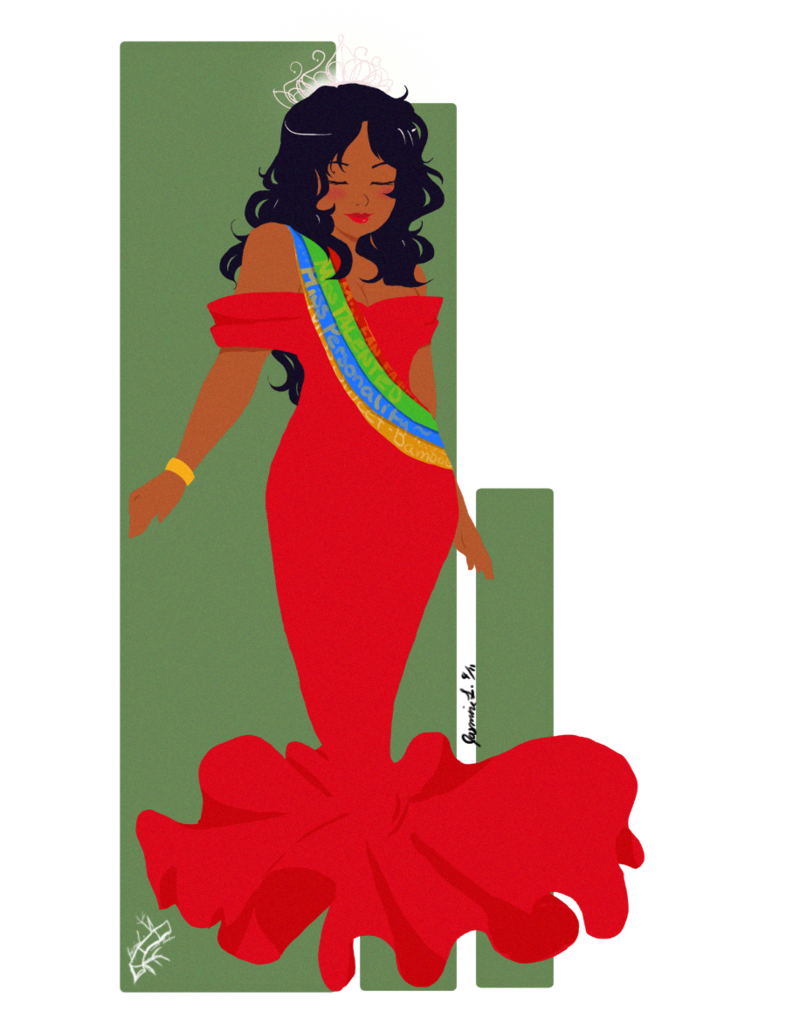 Beauty queen clip art.