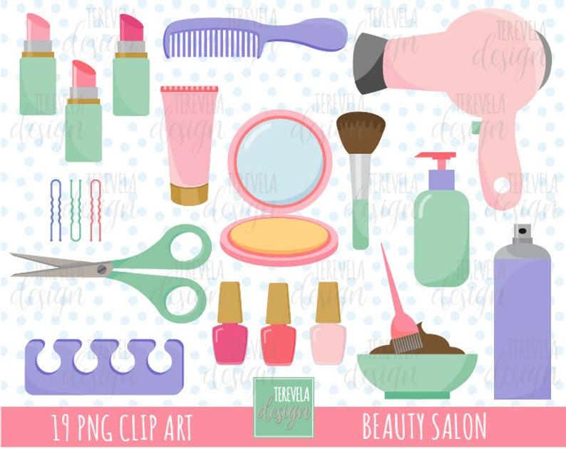 50% SALE Salon clipart, BEAUTY SALON clipart, commercial use, hair care,  hair salon, cosmetology, cute graphics, make up, cosmetics clipart.