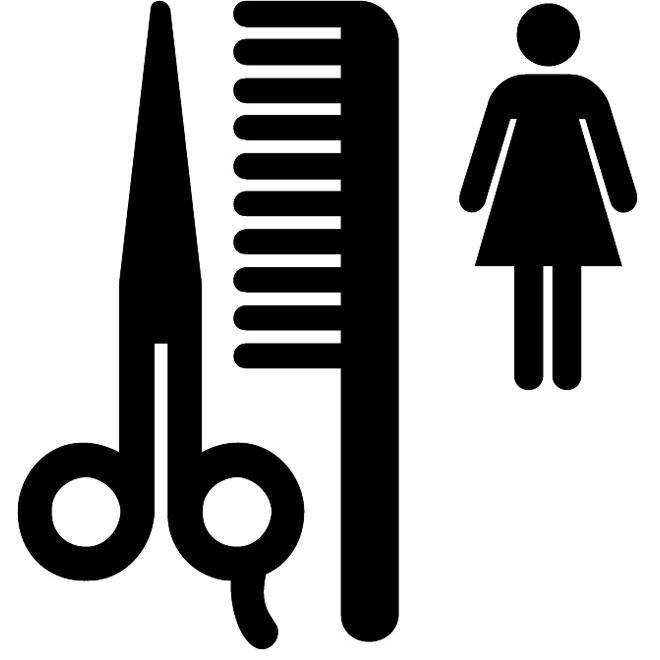 Beauty salon vector sign.