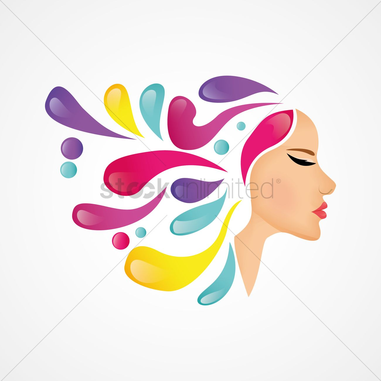 Free Design concept for beauty salon Vector Image.