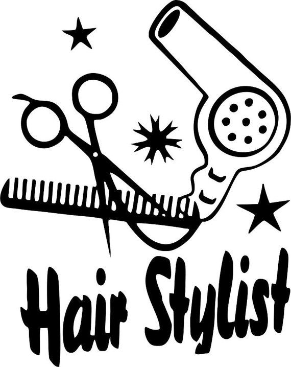 Hair Stylist Window Decal/ Window decals by Adsforyou on Etsy, $7.45.