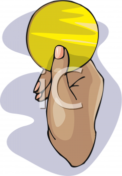 Royalty Free Clip Art Image: Woman's Hand Holding a Beauty Sponge.