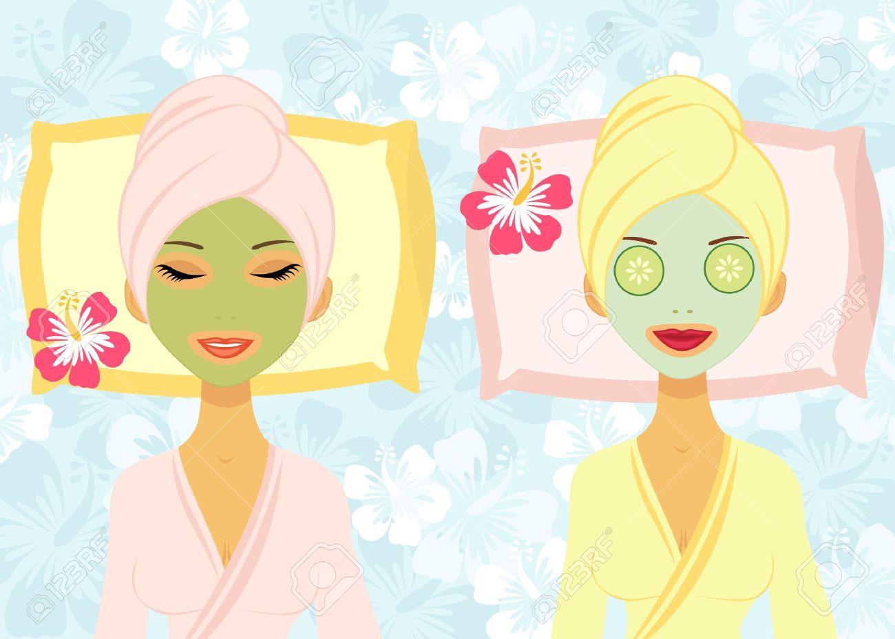 Beauty Treatment Royalty Free Cliparts, Vectors, And Stock.