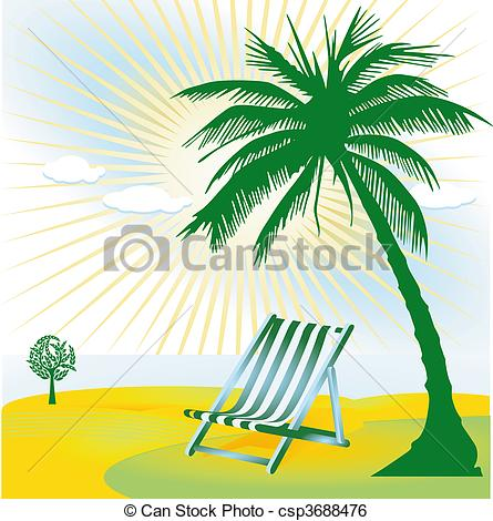 Stock Illustration of tropical beauty spot csp3688476.