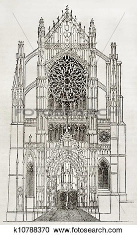 Stock Illustrations of Beauvais cathedral k10788370.