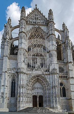 Cathedral In Beauvais, France Stock Photo.