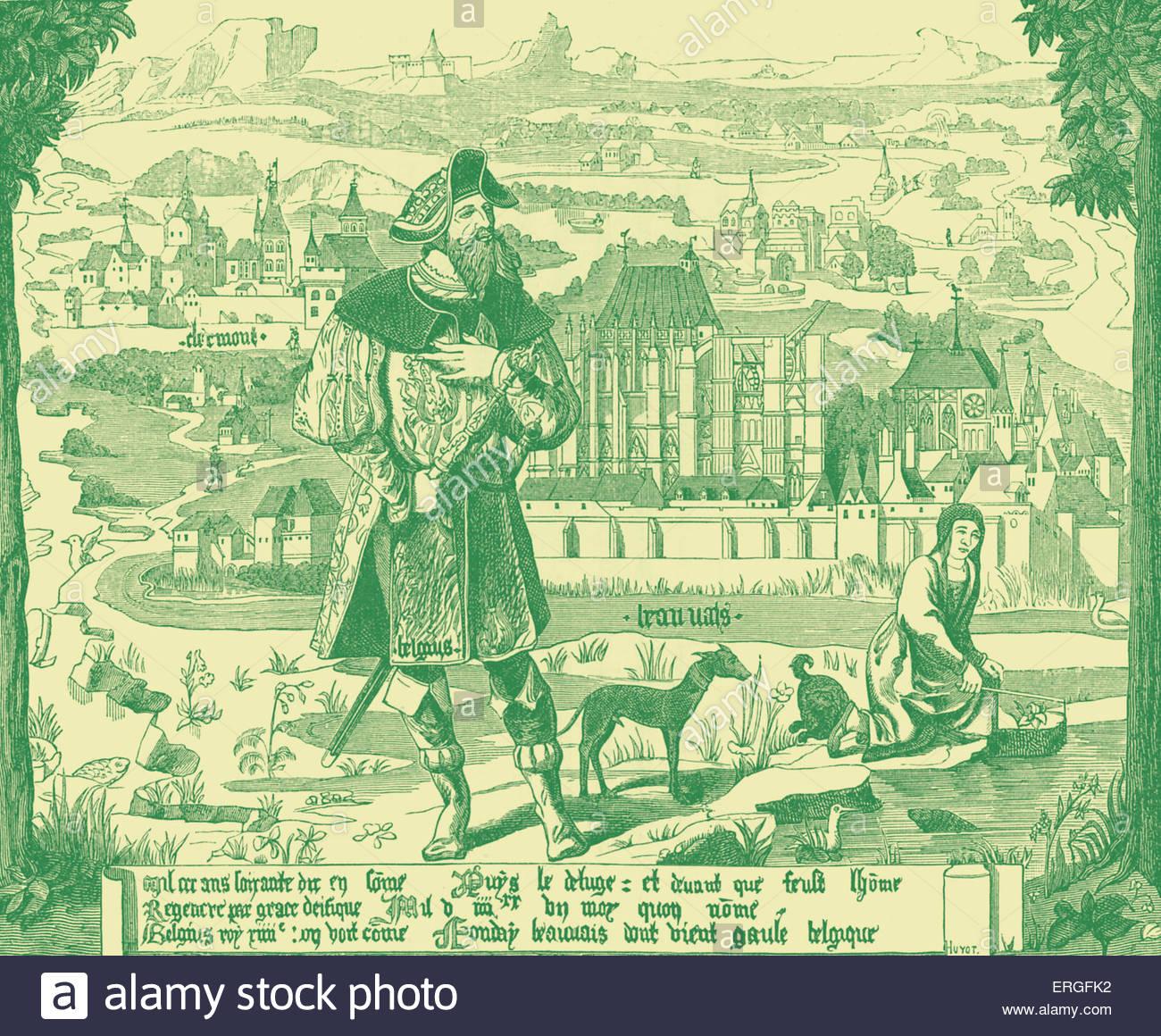 plan Of Clermont En Beauvais'.