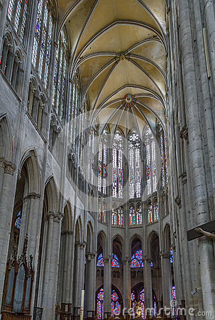 Beauvais Cathedral, France Stock Photo.
