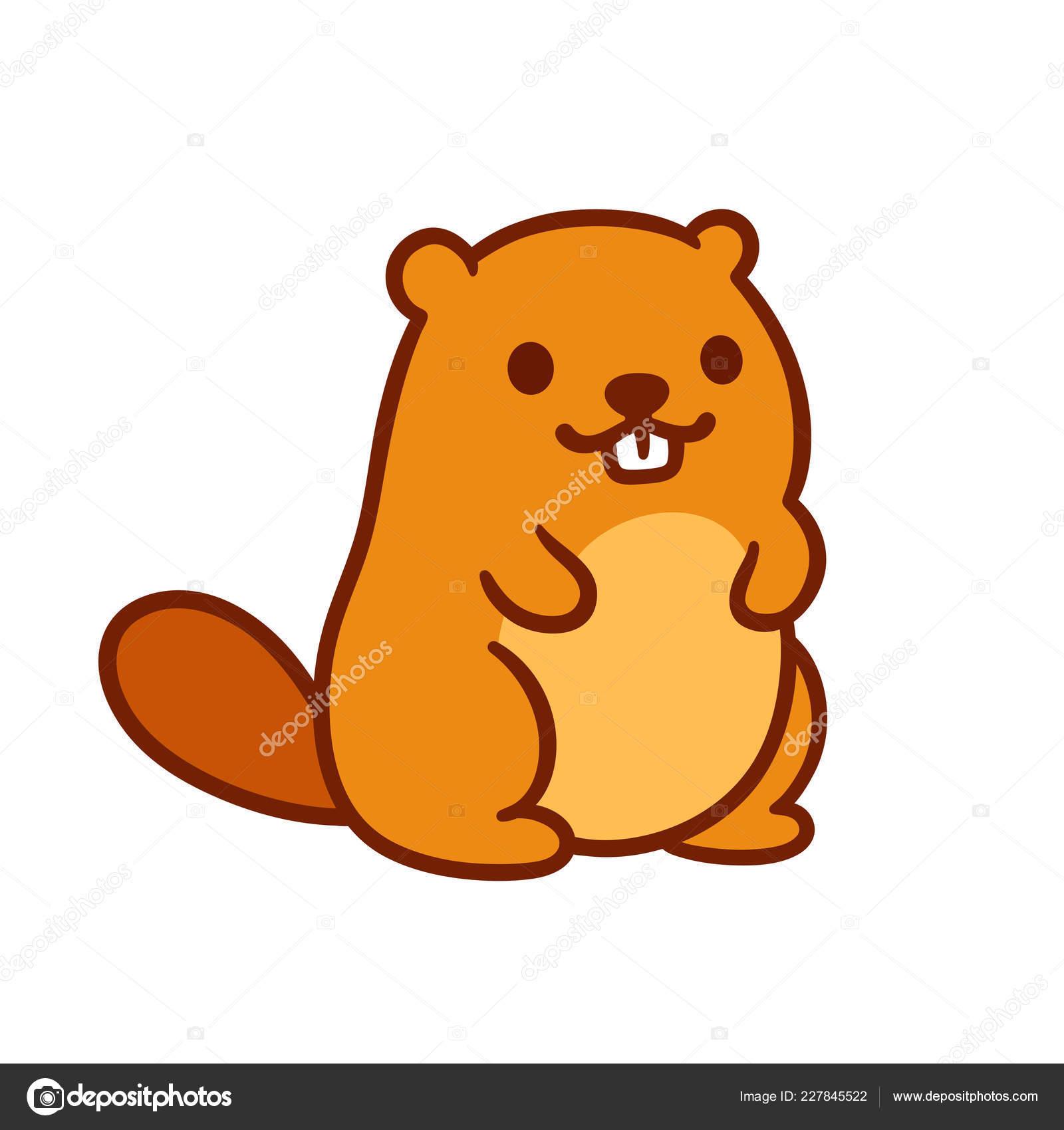 Clipart: chubby beaver.