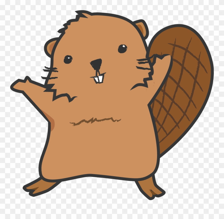 Graphic Freeuse Library Cartoon Beaver Clipart.
