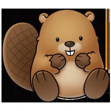 Cute Beaver Clipart.