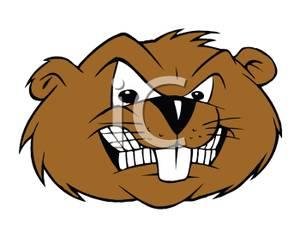 Beaver mascot clipart.
