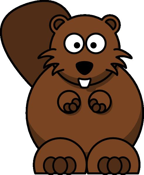 Cartoon Beaver clip art Free Vector / 4Vector.