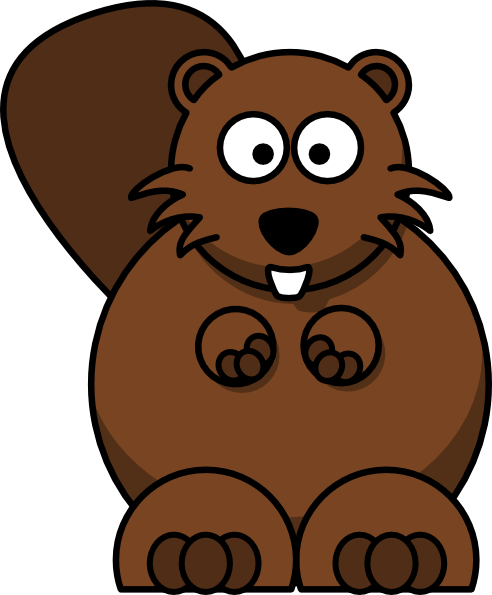 Cartoon Beaver Clip Art at Clker.com.