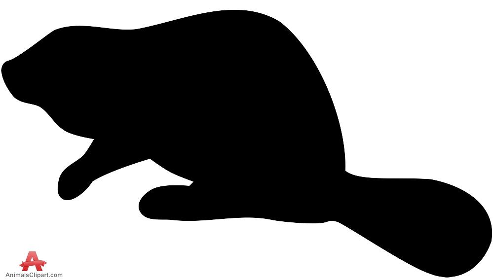 Silhouette of Beaver.