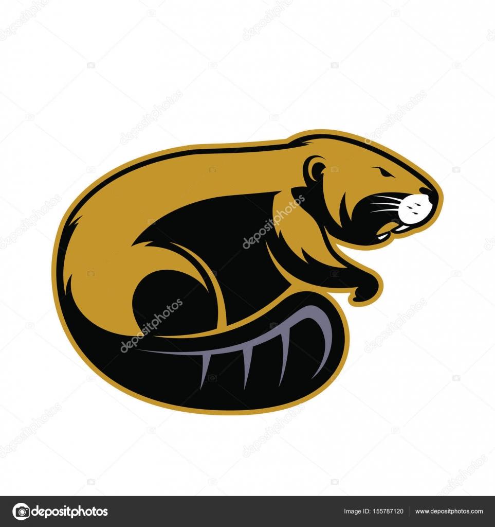 Beaver mascot logo.