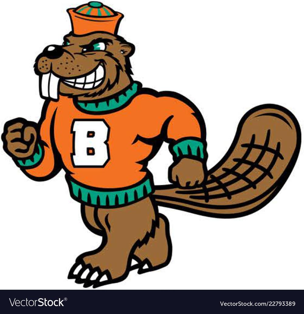 Beaver sports logo mascot.