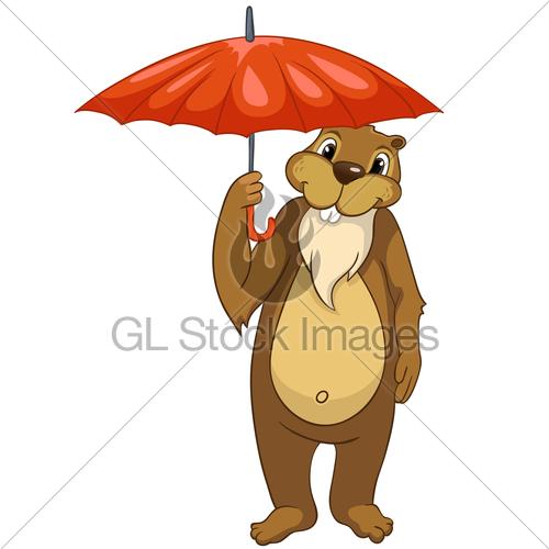 Beaver Umbrella · GL Stock Images.