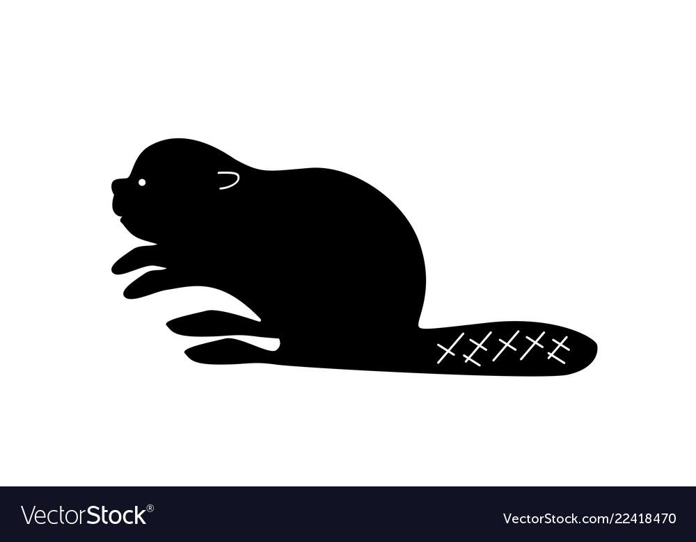 Black beaver silhouette.