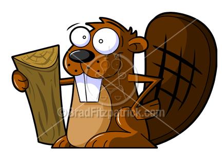 Beaver Tree Cartoon.