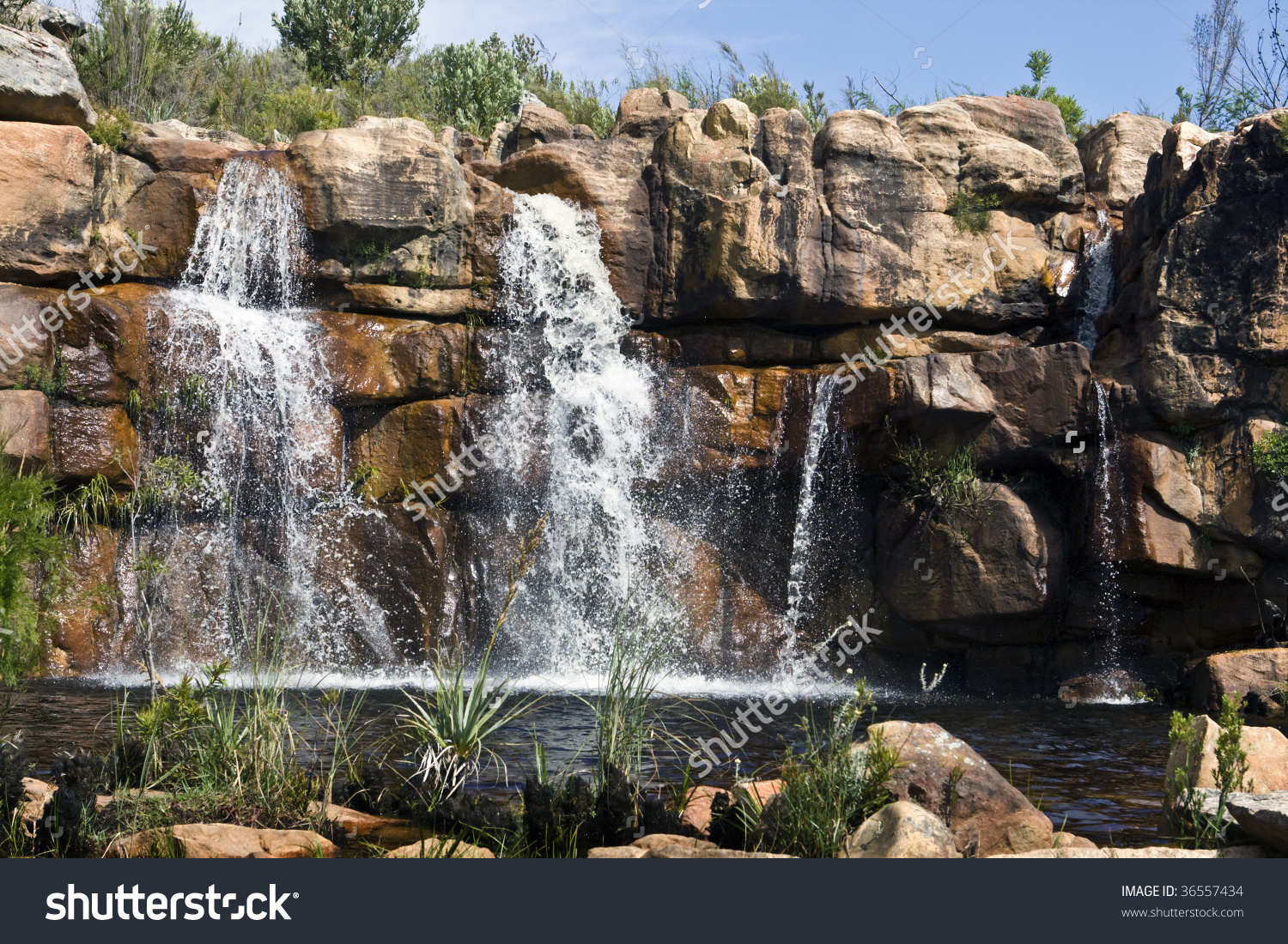 Waterfall In The Cederberg Mountains Of South Africa Stock Photo.