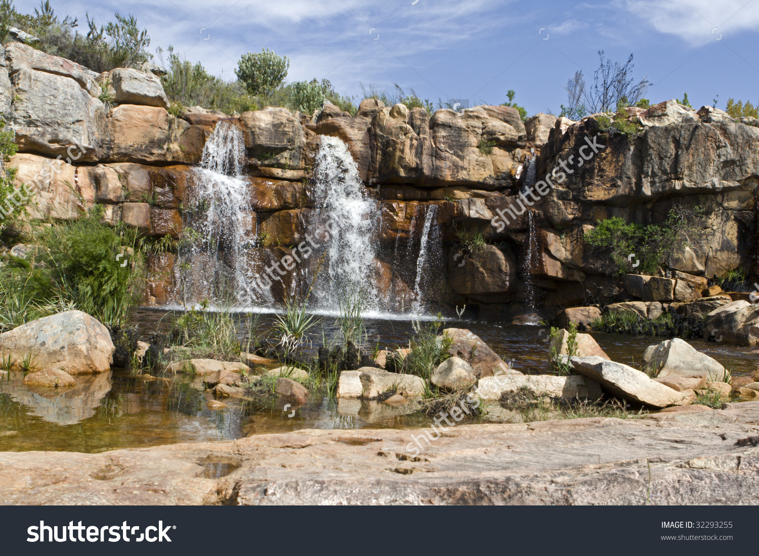 A Waterfall At Beaverlac In The Cederberg Mountains On The Farm.