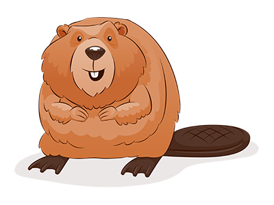 Cartoon Beaver Clipart.