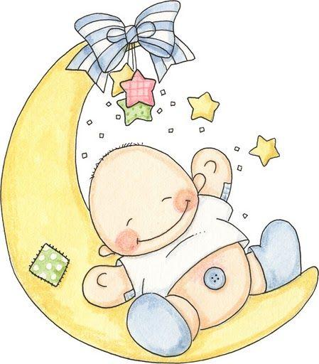 Imagenes de bebés tiernos en dibujo animado.