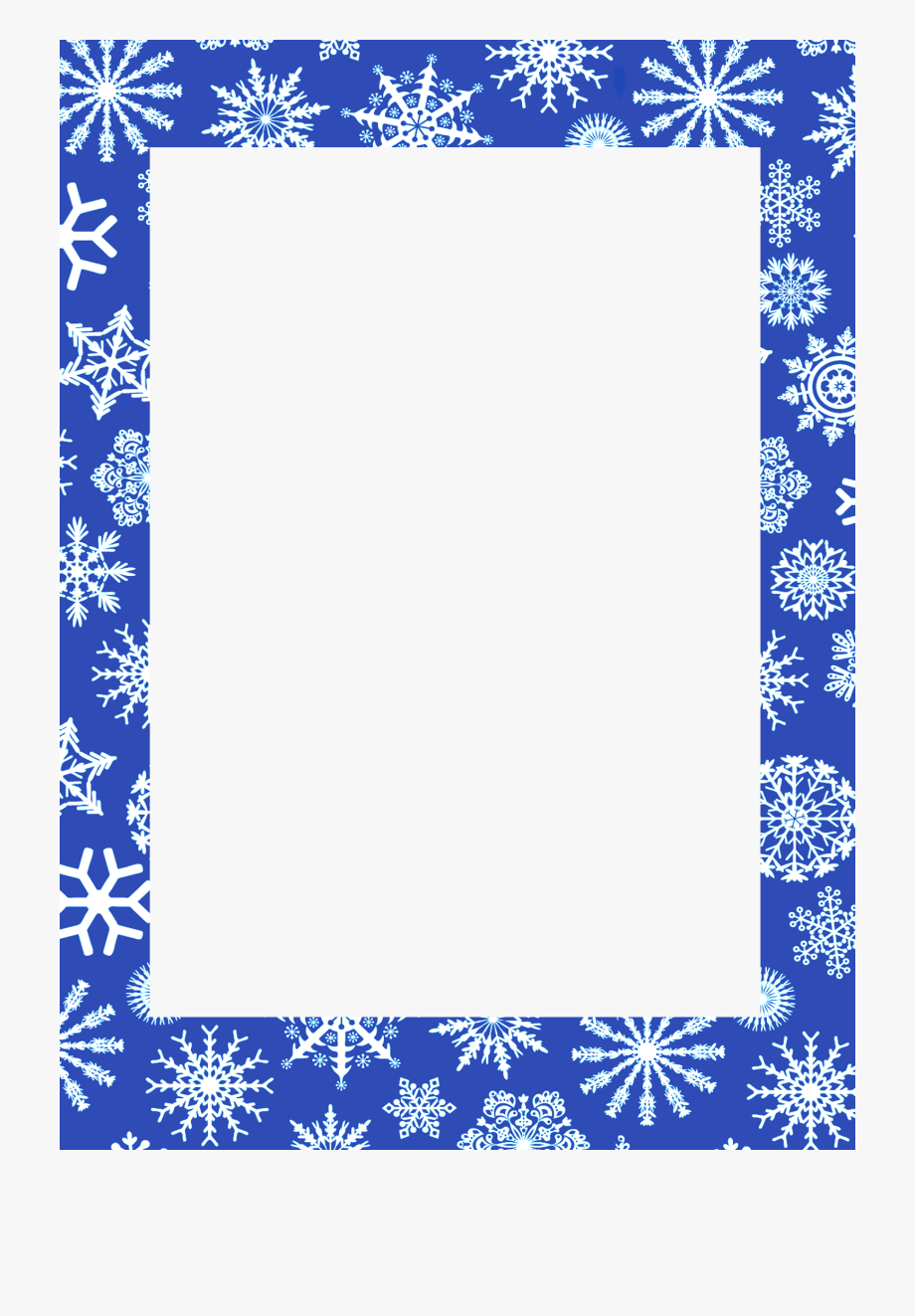 Winter Frame Png.