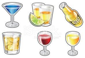 Bebidas Alcohólicas vectores en stock.